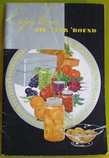 Enjoy Them All Year Round Cookbook 20th Century
