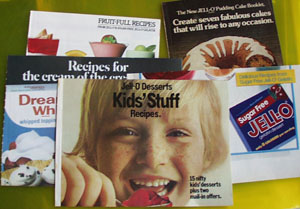 5 Jell O Brand Cookbooklets 1970s to 1980s