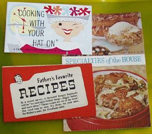 3 Cookbooklets 1960s Era