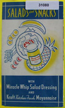 Miracle Whip Salad Dressing Cookbook 20th Century