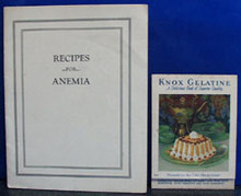 Recipes for Anemia and Knox Gelatine Cookbooks 1931