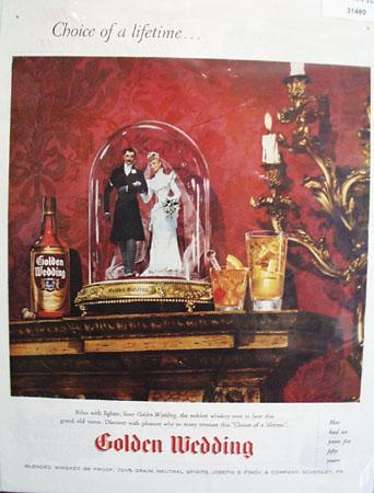 Golden Wedding Blended whiskey 1946 Ad