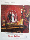 Golden Wedding Blended whiskey 1946 Ad