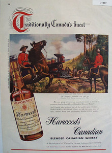 Harwoods Canadian Blended Whiskey 1948 Ad