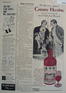 Cherry Heering World Famous Liqueur 1948 Ad