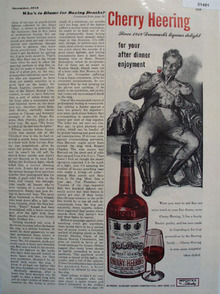Cherry Heering Liqueur  From Denmark 1948 Ad