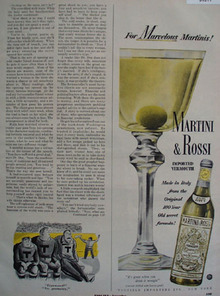 Martini and Rossi Imported Vermouth 1949 Ad