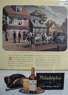 Philadelphia Whiskey Betsy Ross 1946 Ad