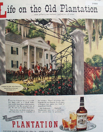 Plantation Whiskey Men of action 1946 Ad