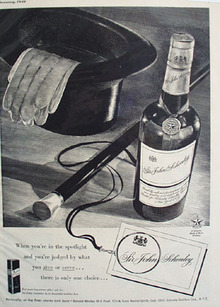 Sir John Schenley Whiskey Mark of Merit 1948 Ad