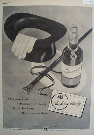 Sir John Schenley Whiskey Only Choice 1948 Ad