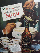Schenley Whiskey Tom and Jerry 1945 Ad
