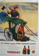 Schenley Whiskey Sunny Rooster 1948 Ad