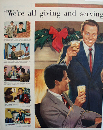 Schenley Whiskey Movie Stars 1951 Ad