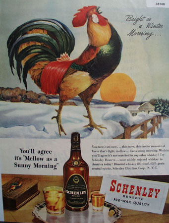 Schenley Whiskey Sunny Winter Morning 1946 Ad