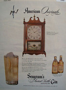Seagrams Gin Terry Clock 1947 Ad