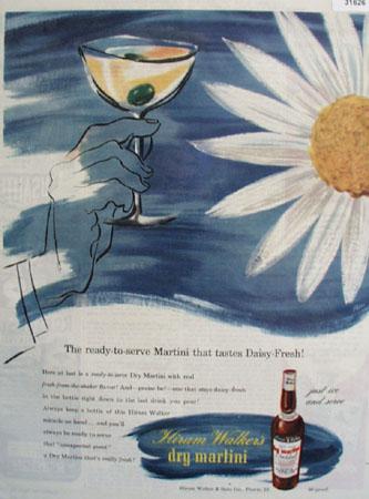 Hiram Walkers Dry Martini Daisy Fresh 1946 Ad