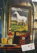 White Horse Scotch Whiskey Horse Picture 1949 Ad