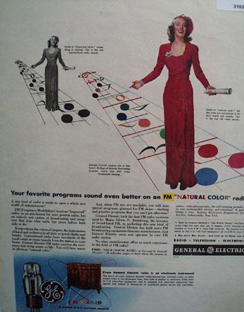 General Electric FM Radio Georgia Carroll 1944 Ad