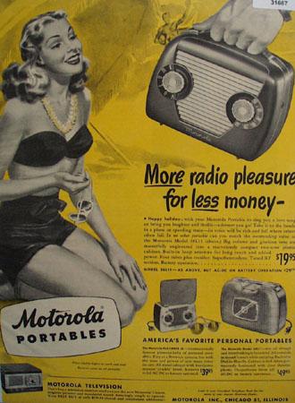 Motorola Portable Radio Americas Favorite 1948 Ad