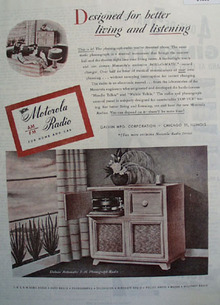 Motorola AM FM Radio for Home and Car 1945 Ad