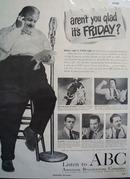 American Broadcasting Co. ABC Fat Man 1949 Ad