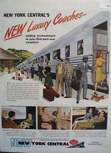New York Central Luxury Coach 1946 Ad