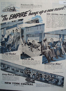 New York Central Empire World Record 1945 Ad