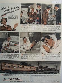Pullman Co. W.W. Johnston Chicago Businessman 1946 Ad