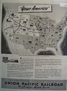 Union Pacific Railroad Your America 1945 Ad
