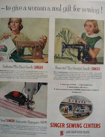 Singer Sewing Machine Sew Handy 1955 Ad