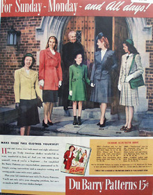 Du Barry Patterns For Fall Clothes 1944 Ad
