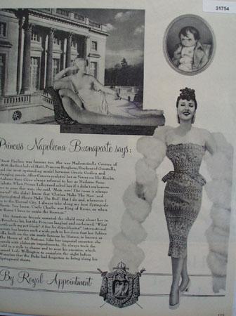 Springmaids Sheets Venus on the Rocks 1955 Ad