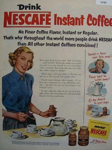 Nestles Nescafe Instant Coffee 1952 Ad