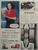 Lipton Tea Brisk Flavor Dorothy Lamour 1944 Ad