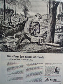 Inco Nickle Power Saw 1949 Ad
