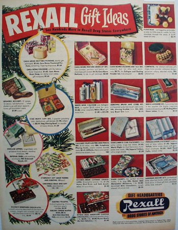 Rexall Drug Stores Gift Ideas 1951 Ad