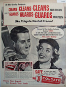 Colgate Dental Cream with Gardol 1956 Ad