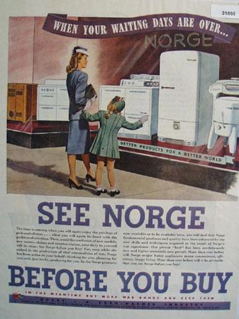 Borg Warner Norge appliances 1945 Ad