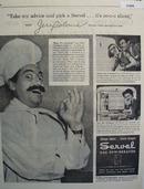 Servel Gas Refrigerator Jerry Colonna 1945 Ad