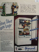 Servel Gas Refrigerator Stays Silent 1948 Ad