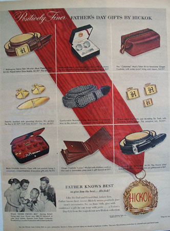 Hickok Fathers Day Ad 1952