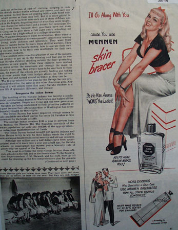 Mennen Skin Bracer I Will go Along With You Ad 1948