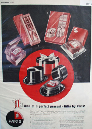 Paris His Idea Of Perfect Present Ad 1948