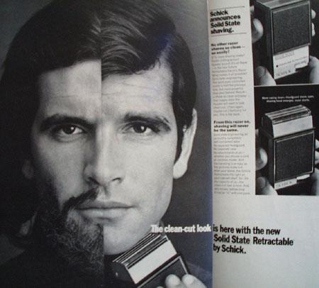 Schick Razor The Clean Cut Look Ad 1968