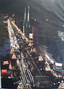 Bell Avenue Los Angeles California At Night Picture 1950