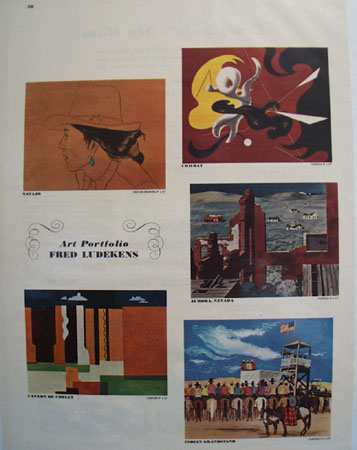 Art Portfolio of Fred Ludekens Pictures 1948