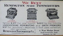 Remington Typewriter Advertising Ink Blotter