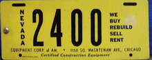 Nevada 2400 Equipment Ink Blotter, Unusual
