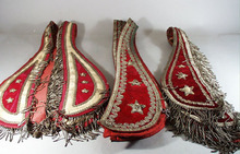 Eight Late 1800s cerimonal Neck ware for Oddfellows
